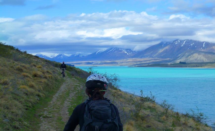 Lake Pukaki bike ride