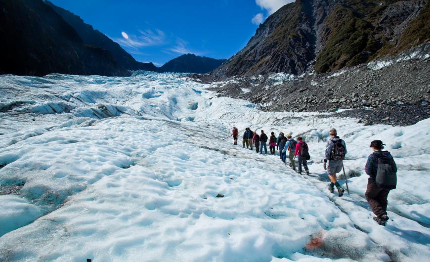 Ice hiking at Fox Glacier