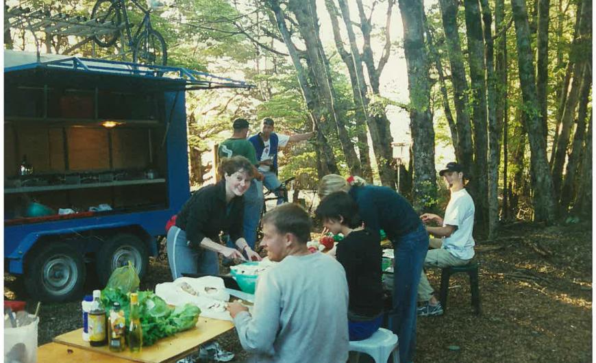 Meal times have been a highlight of Flying Kiwi trips right from the start Photo taken by: Unknown