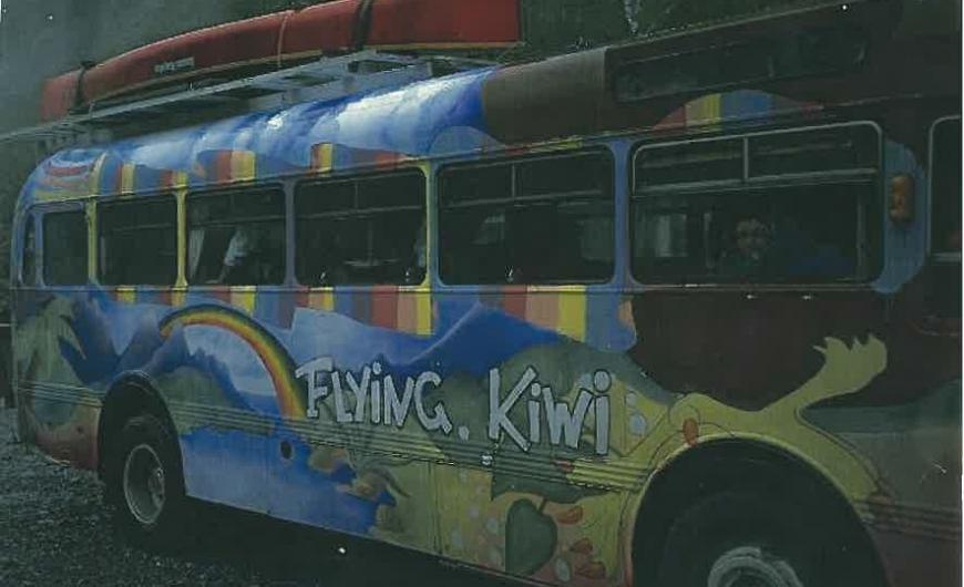 The original Flying Kiwi bus Photo taken by: Unknown