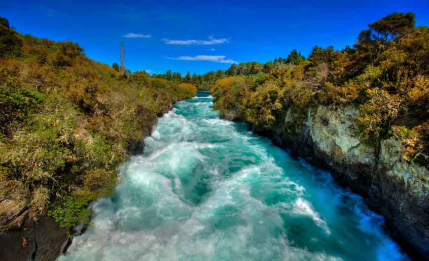Cycle or hike by Huka Falls