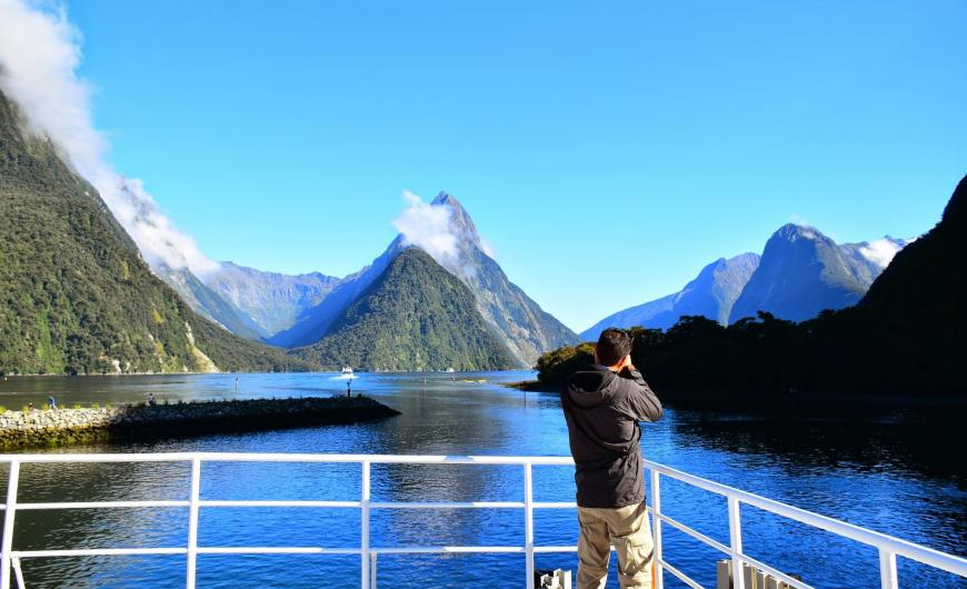 Aboard the Milford Sound Cruise