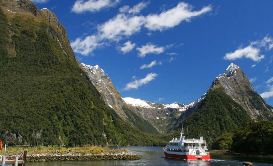 Boat Cruise at Milford Sound