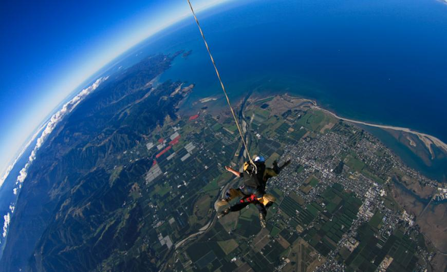 Skydiving in Abel Tasman