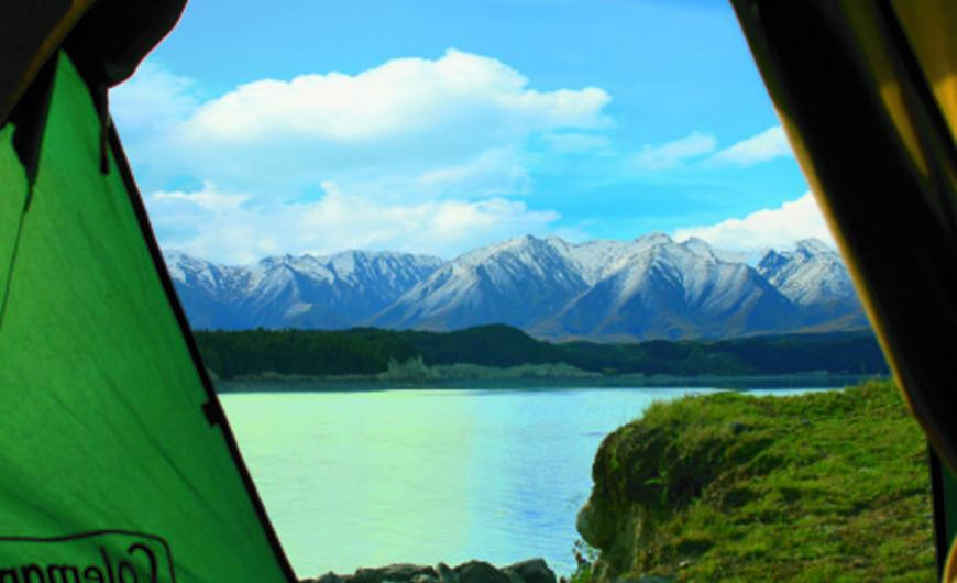 Camping by Lake Pukaki