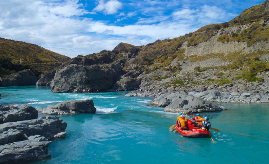 Rafting on the South island