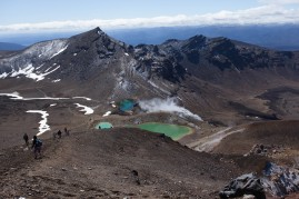 Emerald pools on Tongariro Crossing