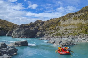 Try white water rafting by Mount Cook