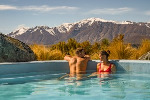 Take a warming dip in the hot pools