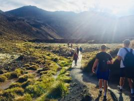 The approach - Tongariro National Park