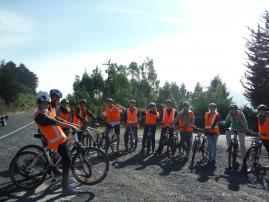 Student Tour - Cyclists ready
