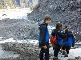 Student tour - At Fox Glacier