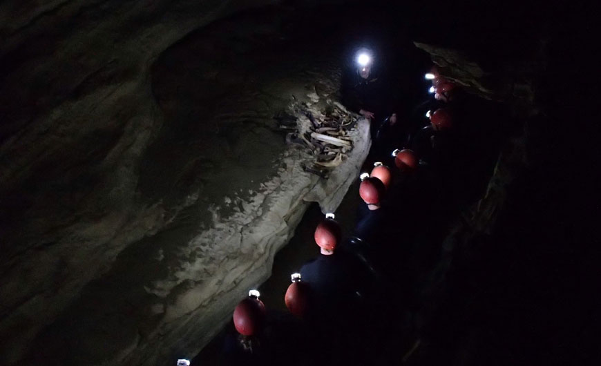 Caving in Waitomo Photo taken by: Rob