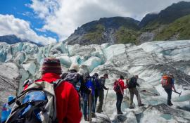Glacier Hiking in New Zealand