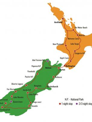 Total Aotearoa All New Zealand (excl. Bay of Islands) Tour